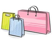 Alışveriş torbaları — Stok Vektör