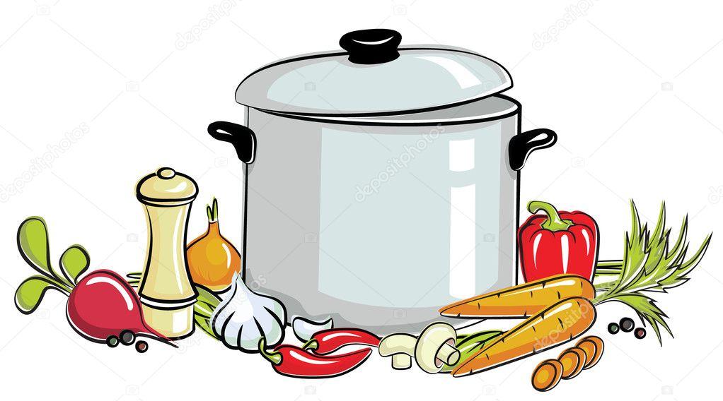 marmite de soupe image vectorielle volchonok 5775612. Black Bedroom Furniture Sets. Home Design Ideas