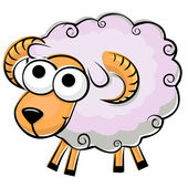 Funny fluffy sheep — Stock Vector