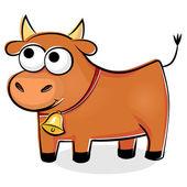 Funny red bull — Stockvektor