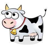 Divertida vaca manchada — Vector de stock