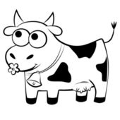 Funny spotted cow — Stock Vector