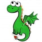 Funny green dragon — Stock Vector #6692213