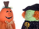 Halloween Characters Talking — Stock Photo