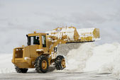 Large Yellow Snow Plow 3 — Stock Photo