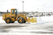 Large Yellow Snow Plow 2 — Stock Photo