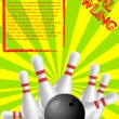 Royalty-Free Stock Vector Image: Bowling poster