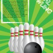 Bowling poster — Stock Vector #5467862