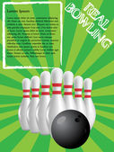 Bowling poster — Stock Vector