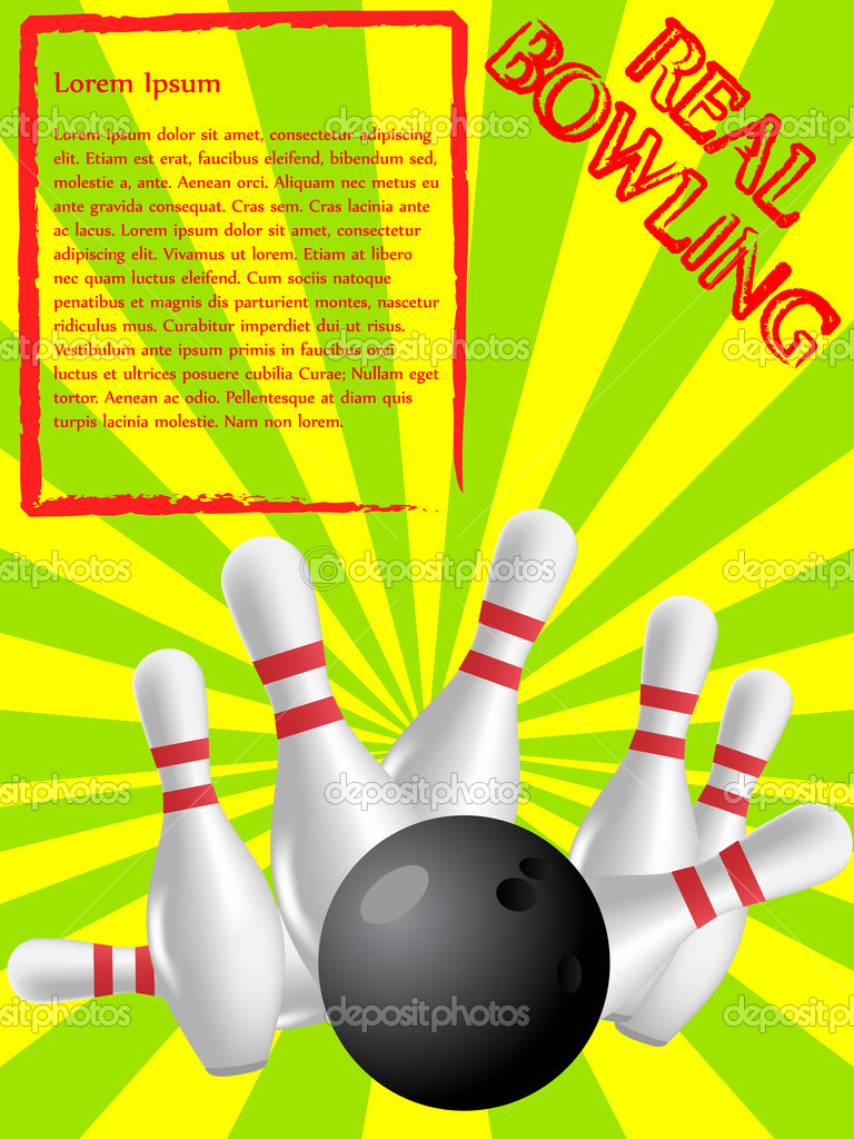 Ad or poster for bowling event — Stock Vector #5467858