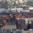 Container on the port — Stockfoto