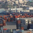 Container on the port — Foto Stock