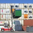 Container on the port — Stock Photo