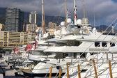 Yachts in Monaco Harbour — Stock Photo