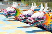 Chinese dragon boat head — Stock Photo