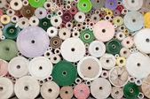 Old color paper roll wall — Stock Photo