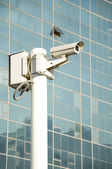 Independent security cameras in the city — Stock Photo