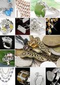 Colagem de jóias — Fotografia Stock