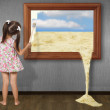 Little girl drawing picture — Stock Photo #6576075