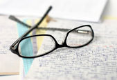 Glasses and lectures — Stock Photo