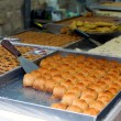 Counter oriental sweets — Stockfoto