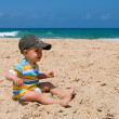 ストック写真: Little boy on sand