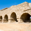 Aqueduct in Caesarea - Stock Photo