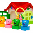 Stock Photo: Toy house with keys