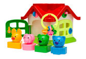 Toy house with keys — Stock Photo