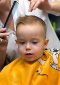 Haircut little boy — Stock Photo