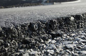 Layer of freshly applied asphalt — Stock Photo