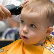 Haircut little boy — Stock Photo