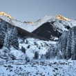 Stock Photo: Winter Evening in mountains