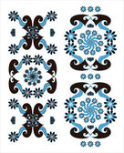 Decorative vertical ornament — Stockvector