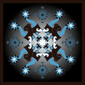 Fyrkantiga dekorativa vektor mönster — Stockvektor