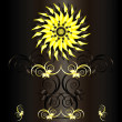 Flower yellow decorative - Stock vektor