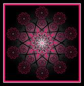 Flower pattern circle — Stock Vector