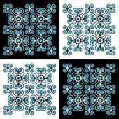 Flower pattern square background — Vecteur