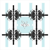 Pattern square decorative — Stock Vector