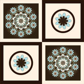 Flower pattern square background — Vettoriale Stock