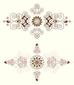 Flower pattern horizontal ornament — Stockvector
