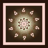 Flower circle pattern — Stock Vector
