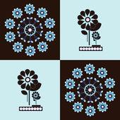 Sfondo quadrati di modello fiore — Vettoriale Stock