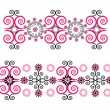 Horizontal ornament with flower — Image vectorielle