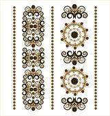 Verticale ornament met bloem — Stockvector