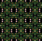 Modèle avec texture transparente fleur — Vecteur