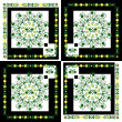 Pattern with flower on square background — Stock vektor