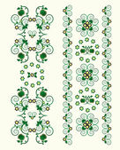 Dikey süs çiçek — Stok Vektör