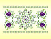 Horizontal ornament with flower — Cтоковый вектор