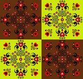 Fond carré décoratif — Vecteur